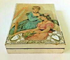 New ListingAntique Victorian Cardboard Chocolates Candy Box Embossed Pretty Ladies Roses