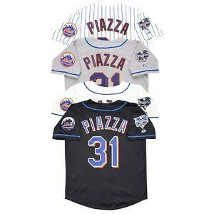 Mike Piazza New York Mets 2000 World Series (Home/Road/Alt) Men's Jersey