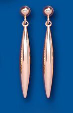 Rose Gold Earrings Bomb Drop Dangle Plain Red Gold Drops