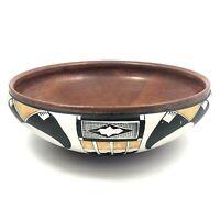 TIna Richardson Southwest Pueblo Indian Style Art Pottery Bowl Signed 1983