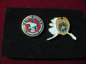 Vintage 2 united states postal inspection services ALASKA & 25 years lapel pin