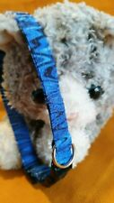 """Cat Collar """"Kitty Cat Blues"""", Handmade - Wild Blue Vibes Bands Of Color"""