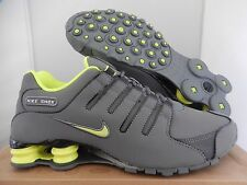 NIKE SHOX NZ EU COOL GREY-VOLT-ANTHRACITE-WHITE SZ 8 [325201-071]