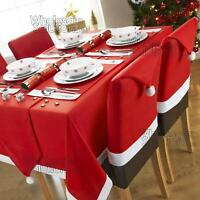 Christmas Table Dining Set - Decorations Place Mat Tablecloth Chair Cover Runner