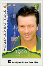 2007-08 Select Cricket Cards World Cup Hat Trick WSC14 Steve Waugh