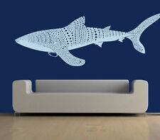 Wall Decal Vinyl Sticker Whale Shark Fish Pattern Sea Animal Beautiful r651