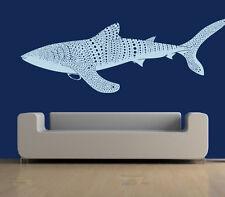 Wall Decal Vinyl Sticker Whale Shark Fish Pattern Sea Animal Beautiful r651