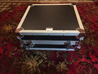 "Titan AV 19"" 12RU Adjustable Mixer Rack Road Case."
