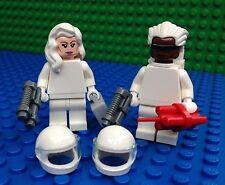 Lego WHITE SPACE VILLAINS Agents Spys Helmets Ray Gun Hair Minifig Minifigures