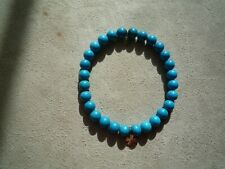 Sydney Evan Turquoise Beaded With Two  14k Charms Bracelet