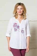 85% OFF SALE Nomads - Embroidered Boho Style Cotton Shirt - EN45 - Fair Trade