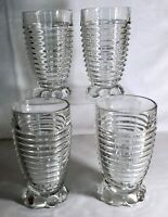 4 Hocking Crystal Manhattan 10 oz. Tumblers