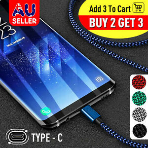 Fast Charger USB C Type-C Data Cable For Samsung S9 S10 S20 S21 Ultra Plus Note