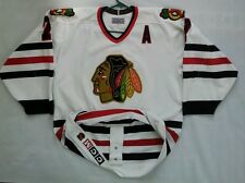 EARLY 90's CCM AUTHENTIC CENTER ICE CHICAGO BLACKHAWKS  #7 CHELIOS SIGNED JERSEY