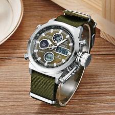 OHSEN Military Army Green Analog Digital Quartz Mens Nylon Band Wrist Watch