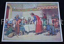 Affiche scolaire Bataille Crécy Saint louis soigne Lepreux MDI 91*68 ecole U933