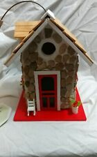Fieldstone Guest Cottage Stone birdhouse Victorian Cottage home Bazaar finch