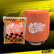 Universal Water Guard Cold Air Intake Pre-Filter Cone Filter Cover Orange Medium