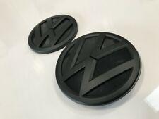 VW Polo 6C 2014-2018 Matte Black Front & Rear Badge Emblem Set TDI GTI TSI