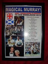 Andy Murray 2013 Wimbledon champion - framed print