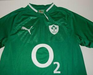 PUMA Men's Short Sleeve Rugby Shirt Size L Large Ireland