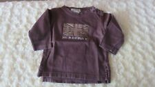EUC BURBERRY BABY BOY L/S TOP PULLOVER BROWN SIZE 6 MTHS