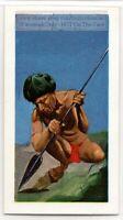Samatri Paraguay Amazon Native Indian Warrior Weapon Vintage Ad Trade Card