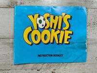 Yoshi's Cookie Instruction Manual Booklet Insert ONLY (Nintendo NES) Ships Free!