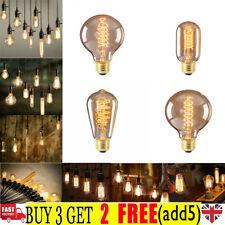 Filament Vintage Amber Glass Retro Light Bulb E27 /40W Screw Edison Globe UK CZ