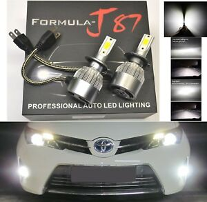 LED Kit C6 72W H7 6000K White Two Bulbs Head Light High Beam Replacement Upgrade
