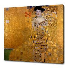GUSTAV KLIMT LADY WALL ART CANVAS PRINT PICTURE 75 x 75 cm MORE SIZES