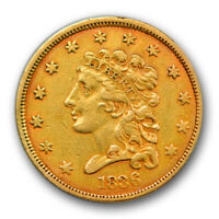 1836 $2.50 Classic Head Quarter Eagle Gold Extra Fine XF Details Cleaned R400