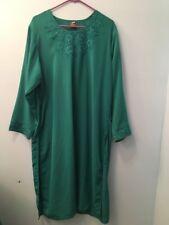 Women's 2 Piece Alhannah Green Tunic Top & Pants Sz 50