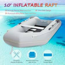 Inflatable Boat Hunting Fishing Raft for Adults on Lakes Rivers More 10'