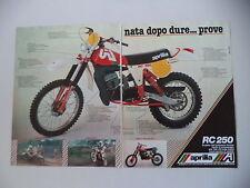 advertising Pubblicità 1979 MOTO APRILIA RC 250