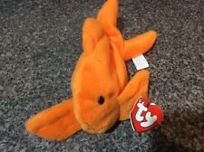 RARE 1993 GOLDIE The GOLDFISH Ty Beanie Baby RETIRED PVC Plush Toy