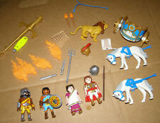 Playmobil Roman Gladiator Arena Coolosseum 5837 figures parts horses incomplete