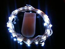 30 LED BLANC CR2032 Pile SW Guirlande lumineuse - 3m long -UK VENDEUR / STOCK