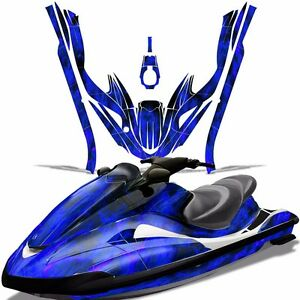 Decal Graphic Kit Yamaha Ski Wrap Jetski Waverunner Wave Runner 02-05 ICE BLUE
