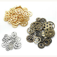 Vintage Metal Mixed Gears Cog Wheel Charms Pendant Sets DIY Jewelry Accessories