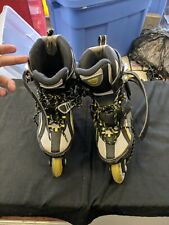 Boys Girls Blade Runner Scream Black Gray Yellow Inline Skates Sz 3 Youth