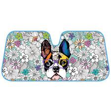 Adorable Dog w/ Sunglasses Dual Layer Auto Sunshade Windshield UV Protection