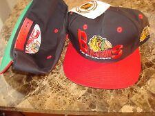 CHICAGO BLACKHAWKS  TWINS 1995   SCRIPT  VINTAGE 90'S HAT CAP  SNAPBACK