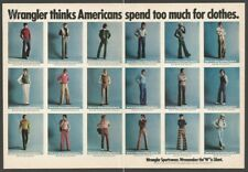 Wrangler clothing 1973-Vintage 2 Pieces Print Ad