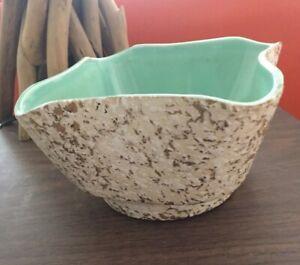RARE Vintage American Bisque Co.  ceramic bowl   USA 4001 22 kt. gold foil MCM