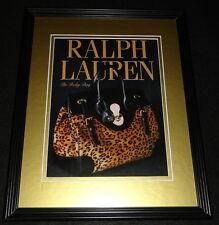 2008 Ralph Lauren The Ricky Bag Framed 11x14 ORIGINAL Advertisement