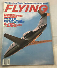 Mitsubishi F-16 Top Dog Aerial Comat Dec 1984    Flying Airplane Magazine