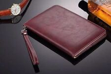 Genuine Soft Leather Smart  Magnetic stand case Cover  for  Apple iPad 234