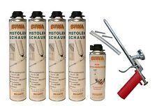 Set Schaumpistole Metall + 4x750ml Pistolenschaum + 500ml Reiniger Bauschaum PF3