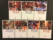 CIVIL WAR #1 - 7 Comic Books 1st Prints CAP vs IRON MAN Spider-Man Marvel 2006